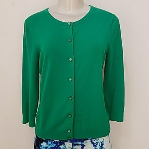 Cable & gauge Green cardigan size Small